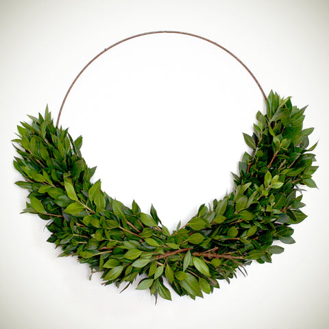 Boxwood Half Wreath