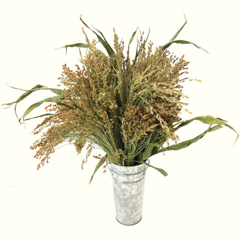 Broom Corn Vase