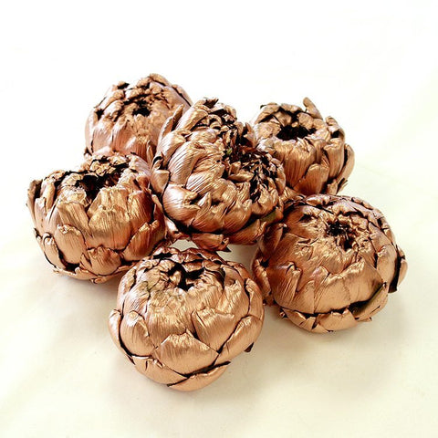 Copper Artichokes (set of 6)