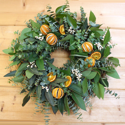 Eucalyptus Citrus Wreath