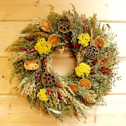 Fall Quince Wreath