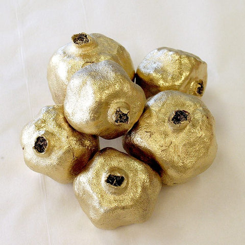 Gold Pomegranates (set of 6)