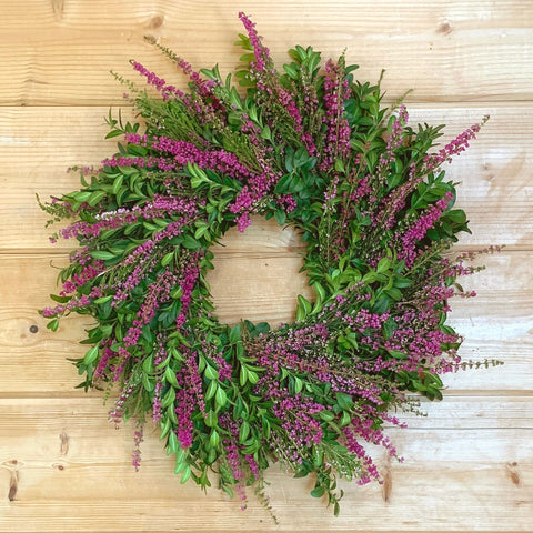 Fresh Heather & Boxwood Wreath
