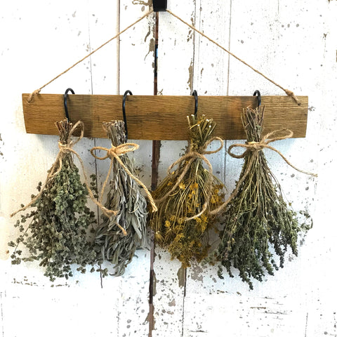 Wine Stave with Herb Bouquets