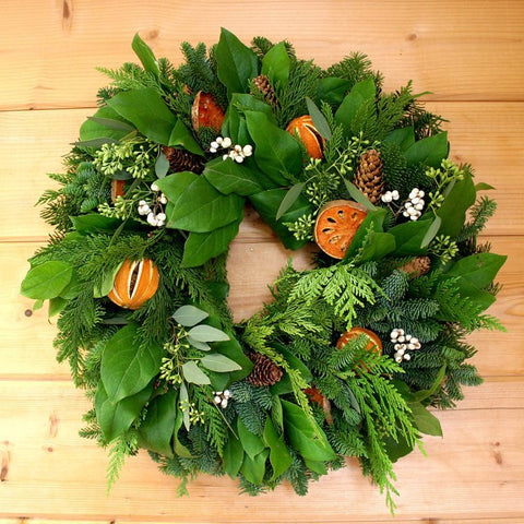 Holiday Citrus Wreath