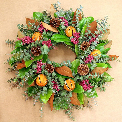 Holiday Orange and Berries Wreath