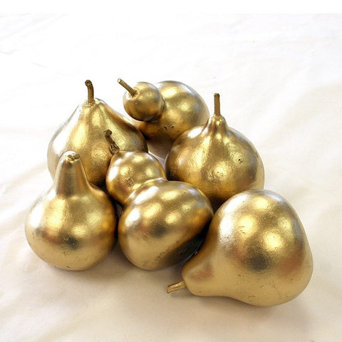 Medium Gold Gourds (set of 6)