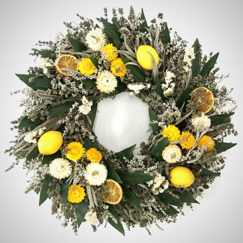 Lemon Floral Wreath