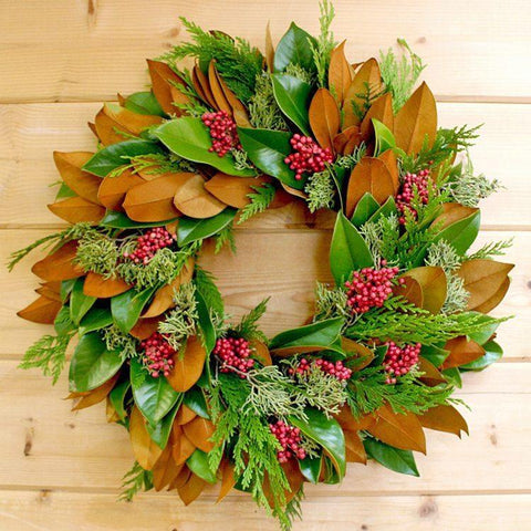 Magnolia & Berries Wreath