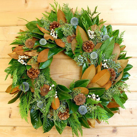 Magnolia Woodsy Wreath