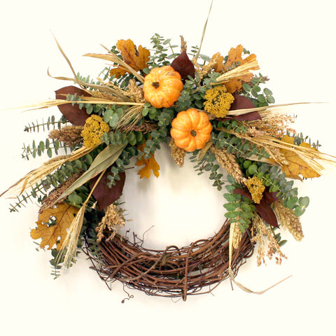 Pumpkin Autumn Wreath