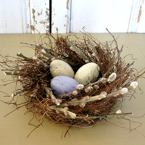 Pussy Willow Nest with Egg Soaps