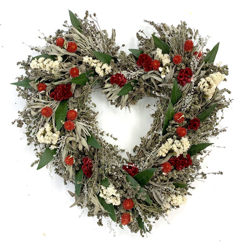 Elegant Heart Wreath