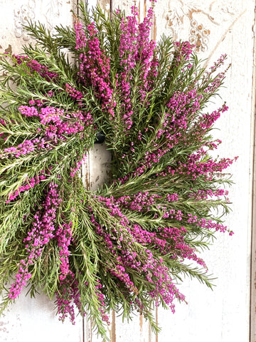Fresh Heather and Rosemary Wreath