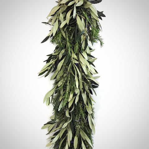 Fresh Rosemary and Olive Garland 6'