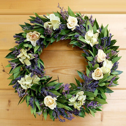 Roses and Lavender Wreath