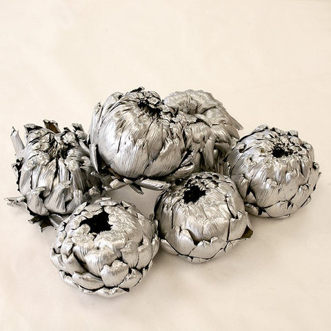 Silver Artichokes (set of 6)