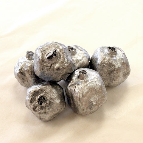 Silver Pomegranates (set of 6)