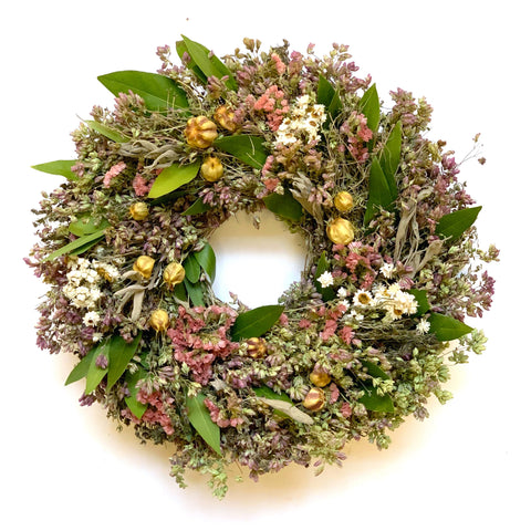 Spring Nigella Wreath