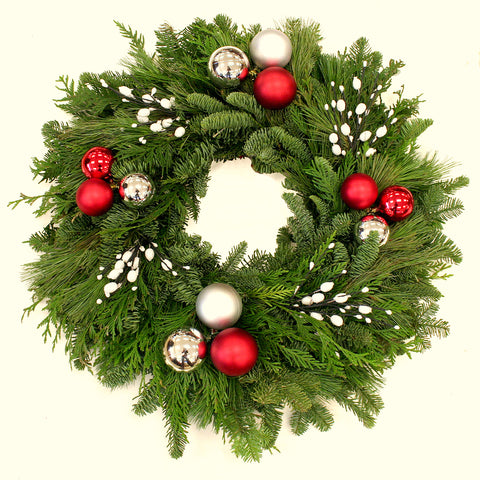 Whimsical Ornament Wreath