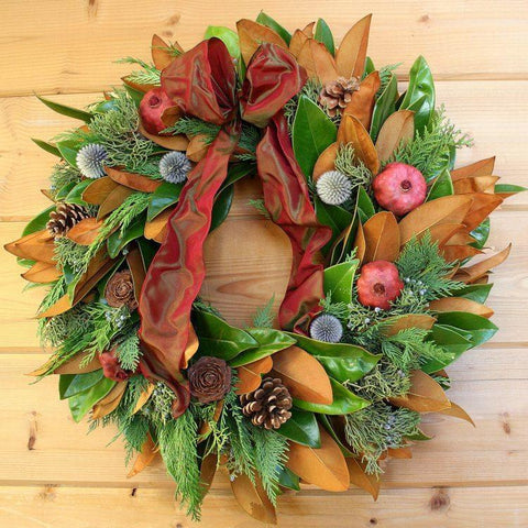 Magnolia Pomegranate Wreath