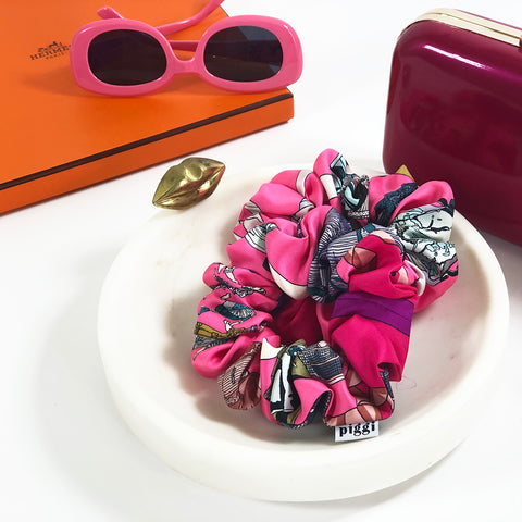 Scrunchie made from Vintage Hermes Scarf