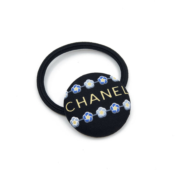 Hair Elastic made from a Vintage Black Chanel Scarf