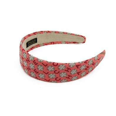 Chanel Coral Camellia Alice Headband