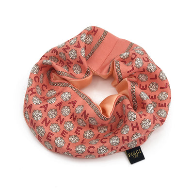Chanel Coral Camellia Scarf Scrunchie