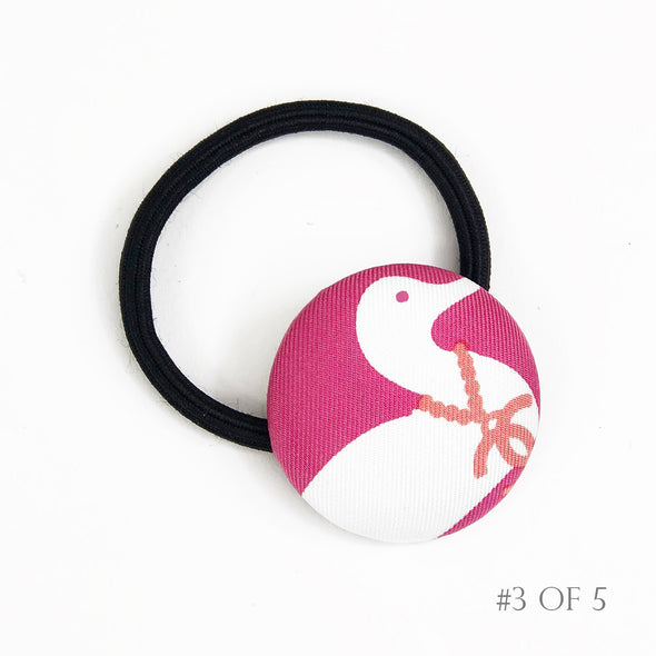 Hair Tie made from Chanel Pink Scarf in Easter Pink