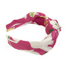 Knot Headband made from an Authentic Chanel Silk Scarf in Pink Icons