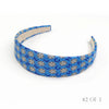 Vintage Chanel Logo Scarf Alice Headband in Blue Floral