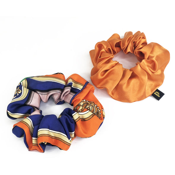 Piggi Scrunchie Duo 'Homage à Hermès'