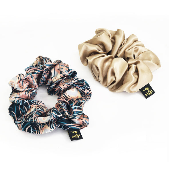Liberty Scrunchie Duo 'Juno Feathers'