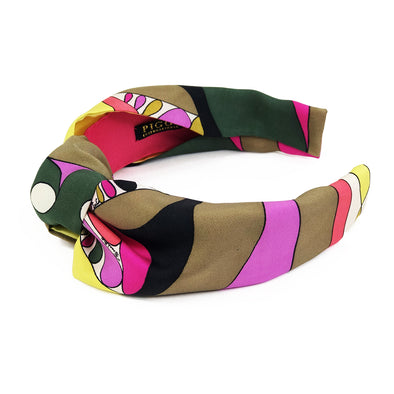 Knot Headband made from Retro Emilio Vibrant Pucci Scarf
