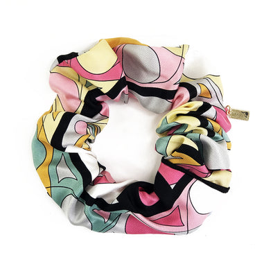 Scrunchie made from a Vintage Emillio Pucci Scarf in Bright Swirls