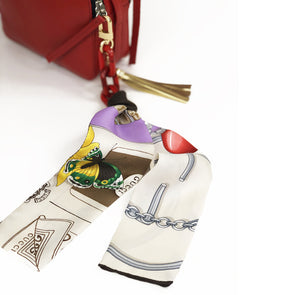 Bag Charm made from a Vintage Gucci Scarf