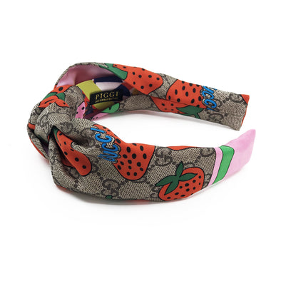 Gucci Strawberry & GG Scarf Knot Headband