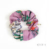 Scrunchie made from a Vintage Gucci Scarf in a Floral & Gucci Logo Print