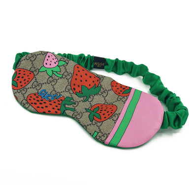 Gucci Sleep Mask made from Strawberry Silk Scarf