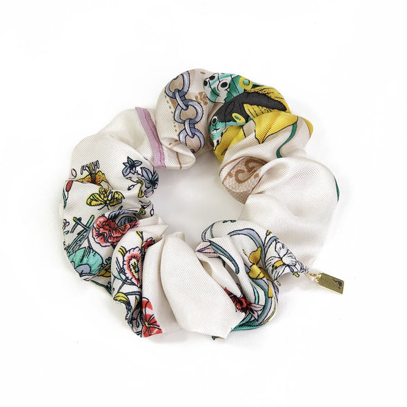 Gucci Vintage Scarf Scrunchie made from Floral & Gucci Logo Print