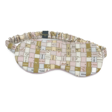 Hermès Vintage Scarf Sleep Mask made from 'Bolduc au Carre' Nude