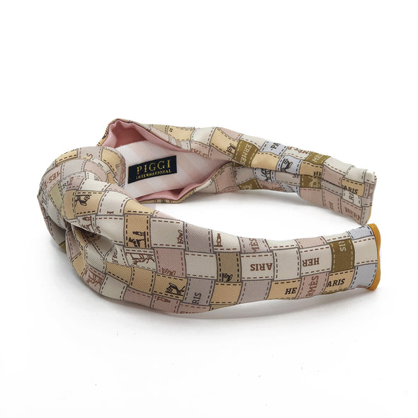 Hermès Vintage Scarf Knot Headband made from 'Bolduc au Carre'