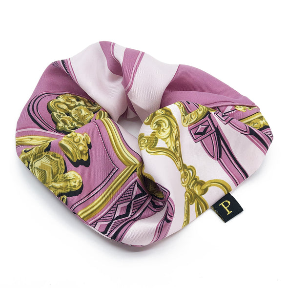 Hermès Vintage Scarf MAXI Scrunchie made from 'Brides de Gala'