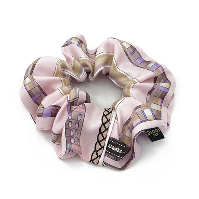 Hermès Scarf Scrunchie made from 'Cannes et Cannes' Pink