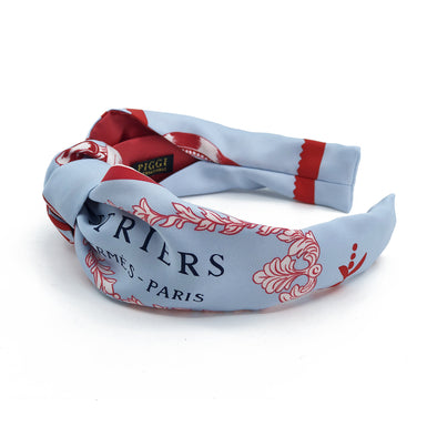 Hermès Vintage Scarf Knot Headband made from 'Etriers Remix'