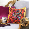 Hermès Vintage Scarf Throw Cushion 'Graffiti by Kongo'