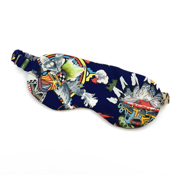 Hermès Reversible Scarf Sleep Mask made from Kachinas