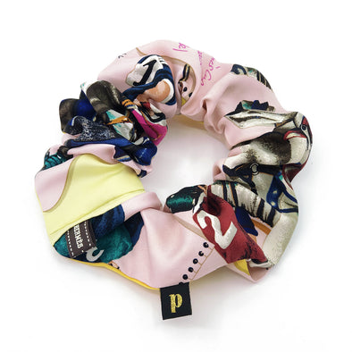 Hermès Scarf Scrunchie made from 'Le Monde du Polo'
