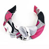 Hermès Vintage Scarf Knot Headband made from 'Les Coupes' Hot Pink